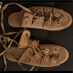 Urban outfitters tan gladiator style sandals